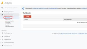 Crear un Dashboard en Google Analytics