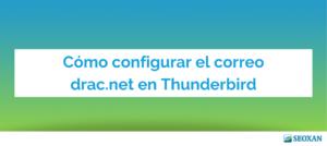 como configurar correo thunderbird