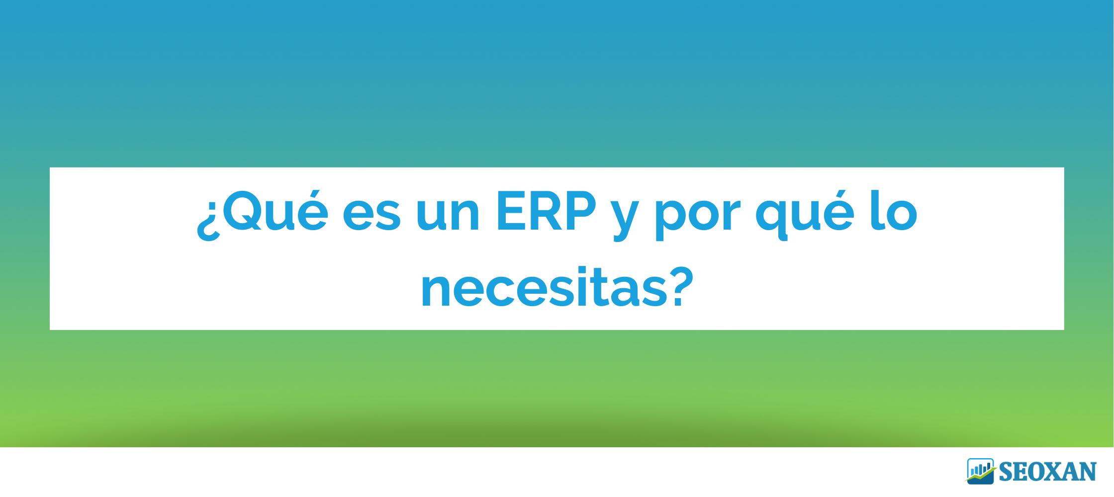 sistema ERP