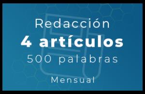 Redacción de contenido 4 artículos en blog x 500 Palabras (Mensual)