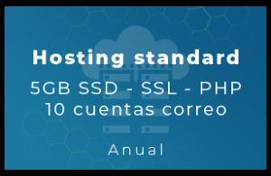 Hosting Standard - 5Gb SSD, SSL, php, 10 Cta correo (Anual)